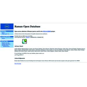 IUCr) Raman Open Database: first interconnected Raman–X-ray